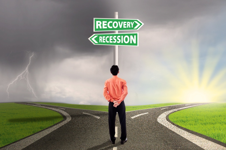 Worker choose the recession or recovery finance